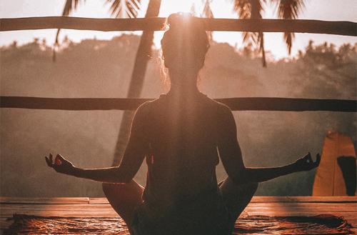 Moring Meditation part of Detox Retreat at Udara Bali