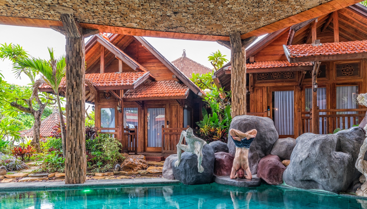 yoga at udara bali resort and spa
